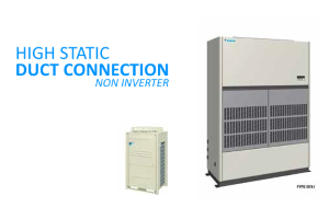 HIGH STATIC FLOOR STANDING R410A DUCT CONNECTION 300X200