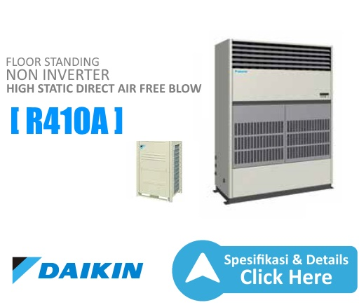 ac floor standing daikin - high static direct air free blow daikin